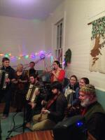 At the Nelson Town Hall 2014 New Year's Eve contra dance.